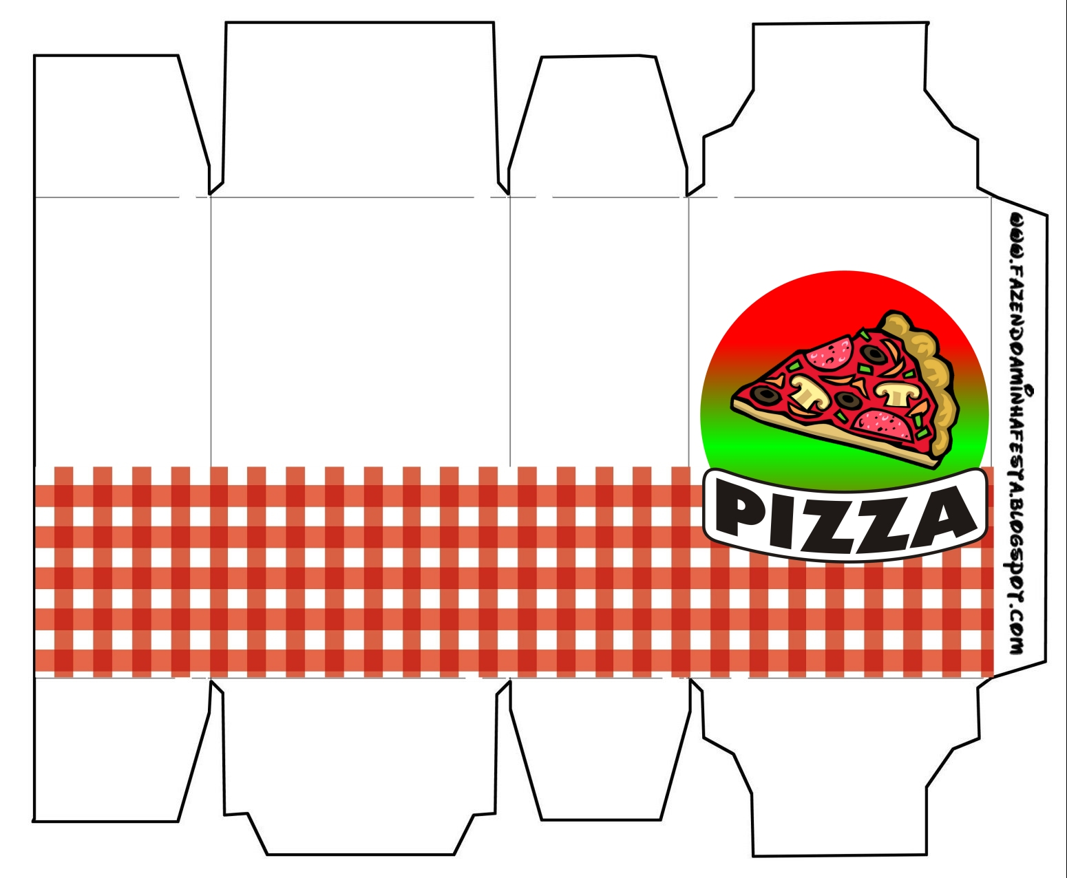 pizza party  free printable boxes