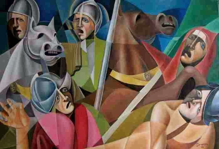 Синтез кубизма и футуризма. Bruno Sciaraffia