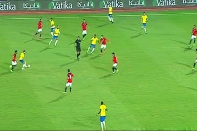 ملخص واهداف مباراة مصر والبرازيل الاولمبي (2-1) المباراة الودية