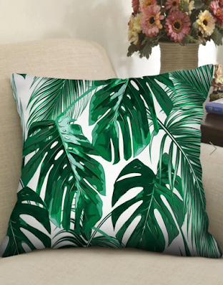 leaf, print, uzorak, list, banana leaf, pillow, jastuk, jastučnica, ukras, dekor, decor