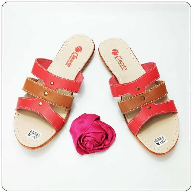 Pusat Sandal Kulit | Sandal CS Slop Karet Wanita Awet | Bisnis sandal murah