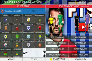 Download FTS 20 Mod Liga 1 Patch V.15 Indonesia 2020/21