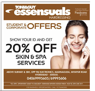 TONI& GUY ESSECIALS HYDERABAD
