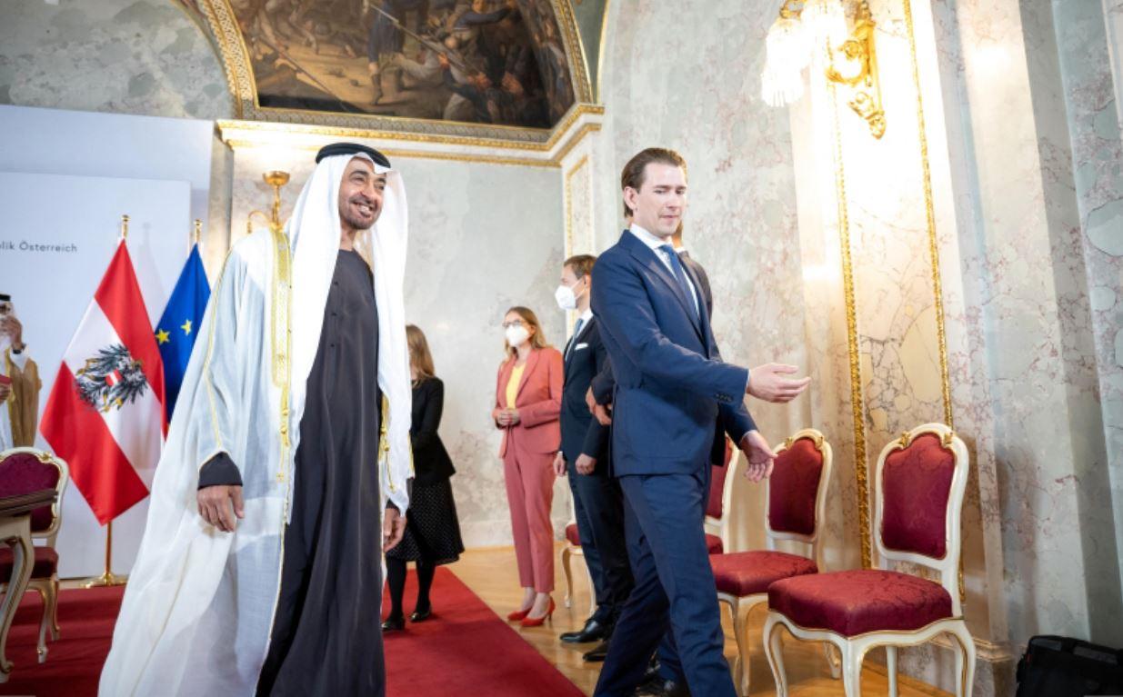 اهتمام إعلام النمسا Austria بزيارة محمد بن زايد لتعزيز العلاقات الاقتصادية