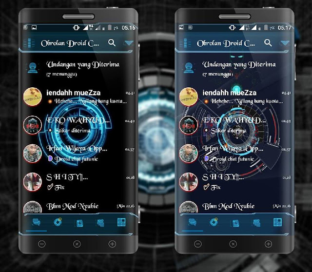 Download BBM Mod Droid Chat Futuristik Terbaru Apk