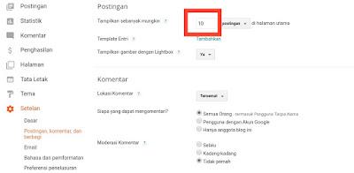 Mengatasi Jumlah Postingan di Halaman Depan Blogspot Tidak Sesuai Dengan Jumlah di Pengaturan