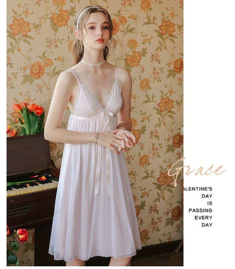 Váy ngủ tiểu thư dễ thương nhẹ nhàng 6