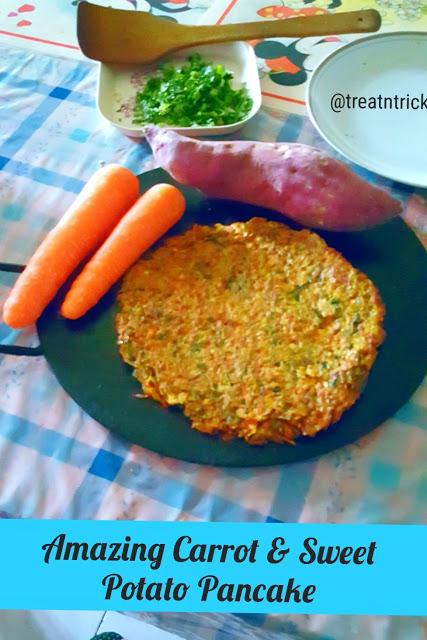 Carrot and Sweet Potato Pancake Recipe