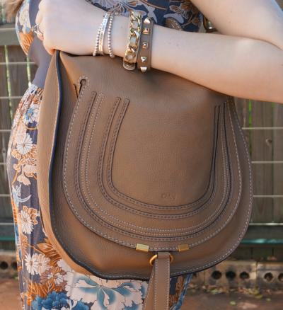 Chloe marcie hobo bag worn on shoulder