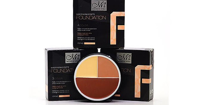 MN MENOW PRO 3 or 4 COLOUR FOUNDATION : PERFECT SHADING ...
