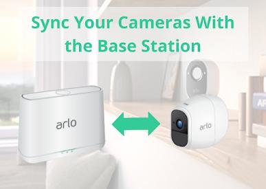arlo pro camera syn with base station