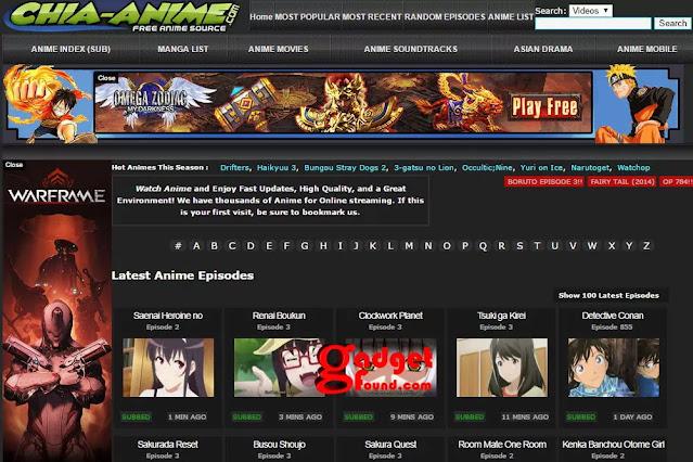 Chia-Anime: KissAnime Alternatives