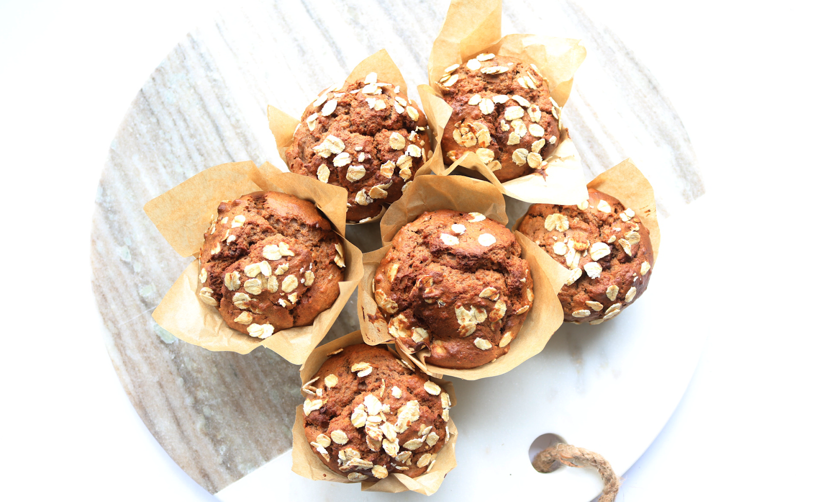 Peanut Butter, Oat & Banana Breakfast Muffins (Vegetarian recipe)