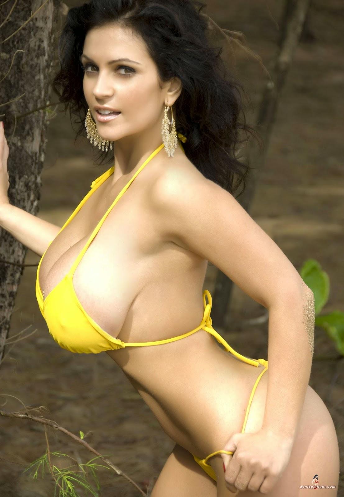 Denise Milani Archives Yellow Bikini Mini Bikini-8977