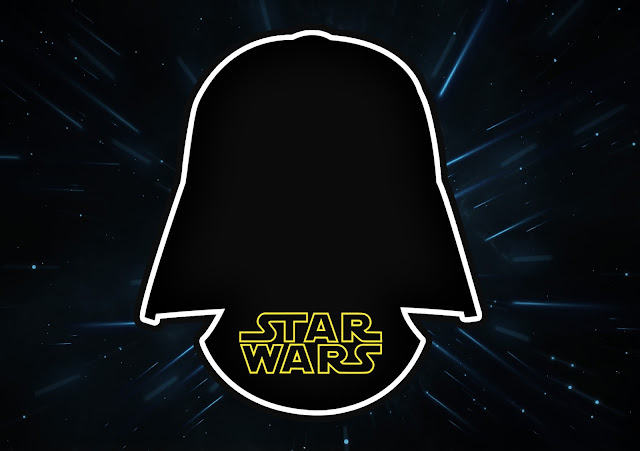 Star Wars Free Printable Invitations, Labels or Cards.