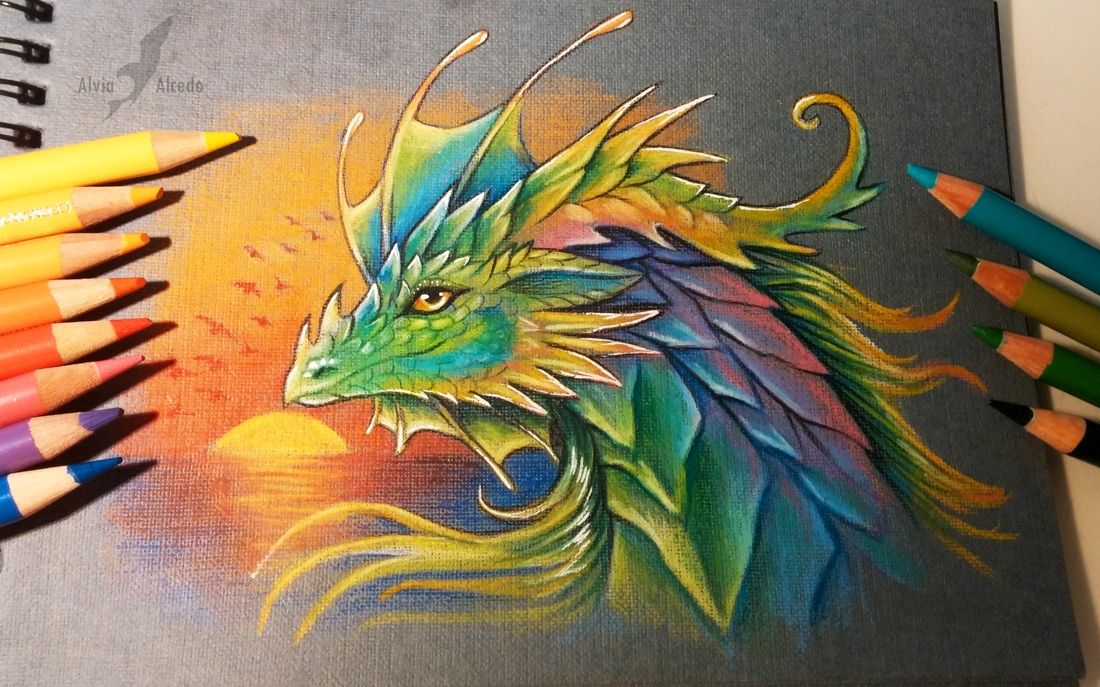 16-Prismatic-dragon-Alvia-Alcedo-Dragon-and-other-Mythical-Fantasy-Drawings-www-designstack-co