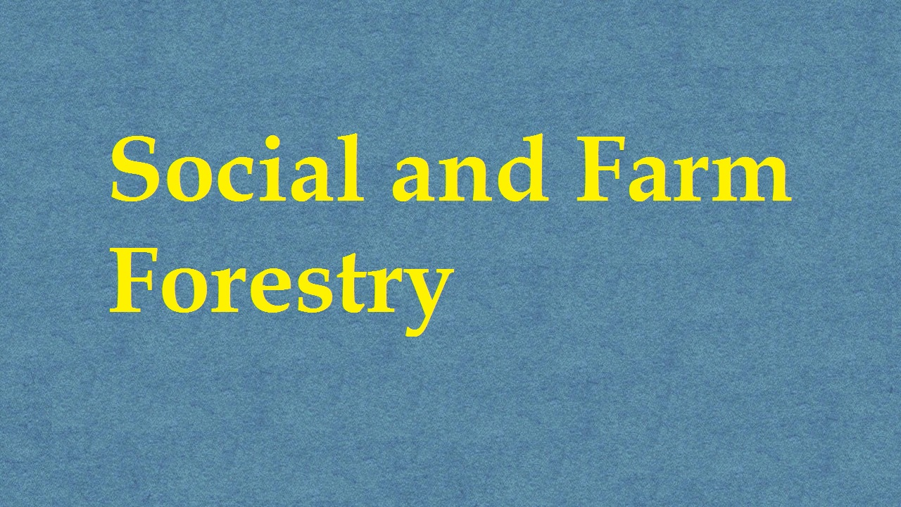 Social And Farm Forestry ICAR E course Free PDF Book Download e krishi shiksha