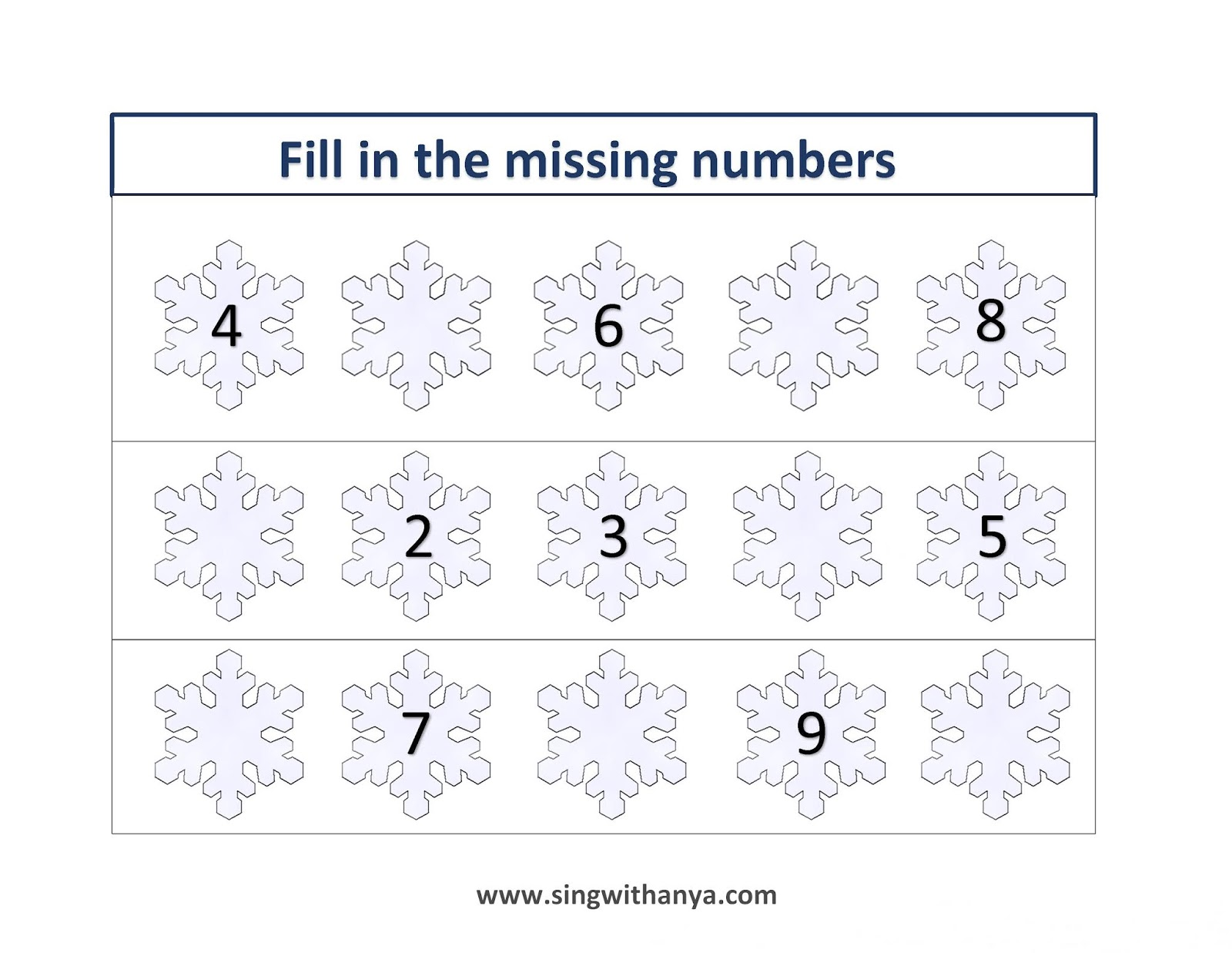 Sing And Learn With Anya Winter Counting 1 10