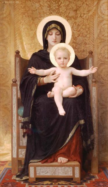 Адольф Вильям Бугро - Мадонна с младенцем (1888)