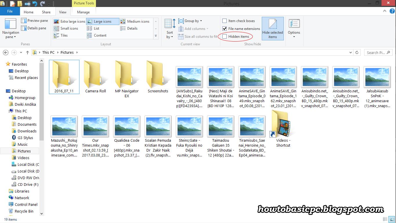 Cara Melihat File Yang Telah Di Hidden - All About PC