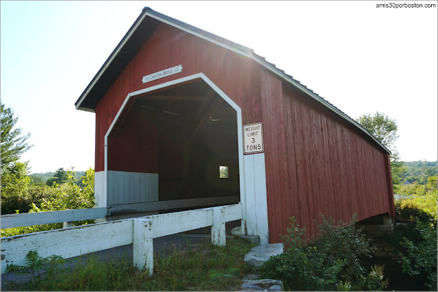 Puente Cubierto Carlton Covered Bridge en New Hampshire
