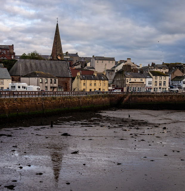 Photo of Christ Church at Maryport at low tide