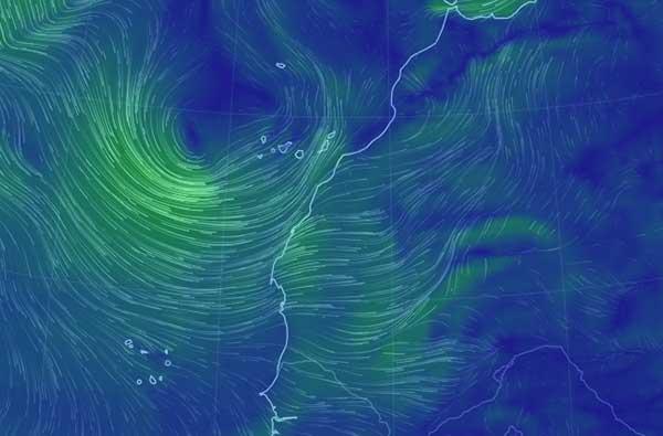 Se esperan fuertes lluvias en Canarias, 23 febrero