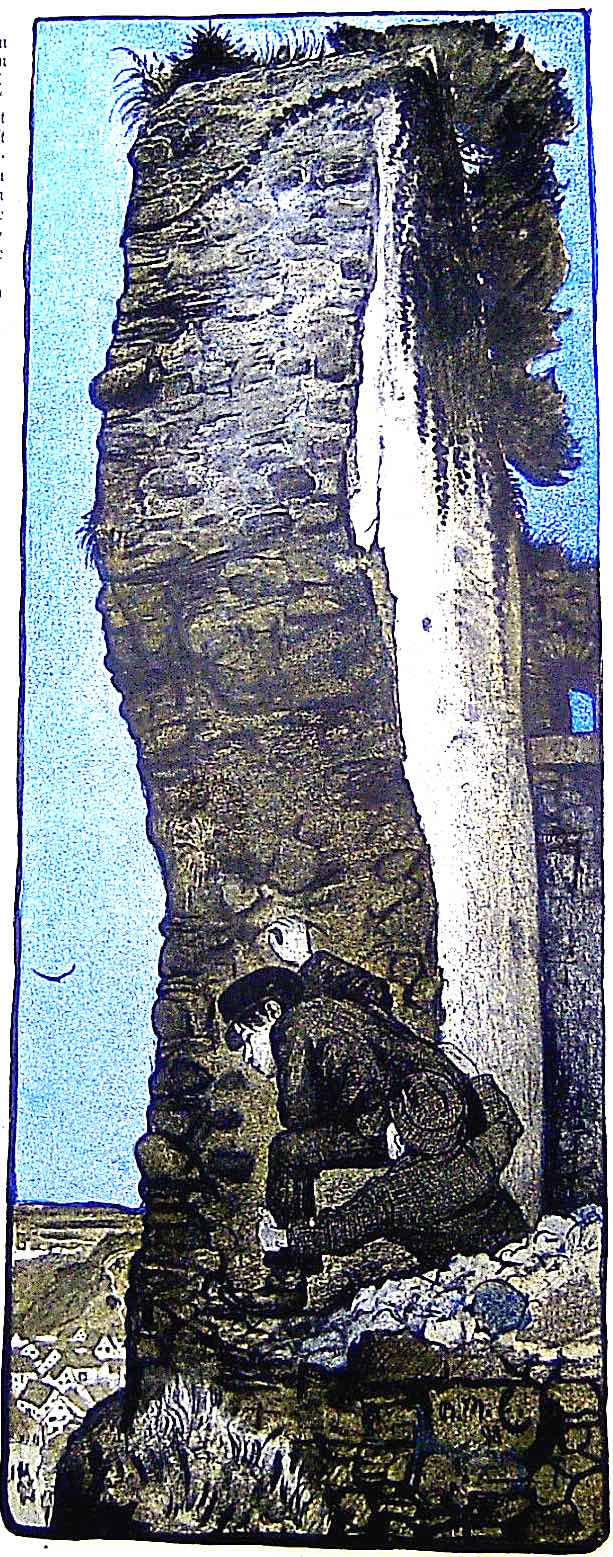 a Reinhold Max Eichler illustration of two boys peering over a cliff