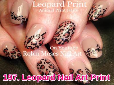Leopard Nail Art Print