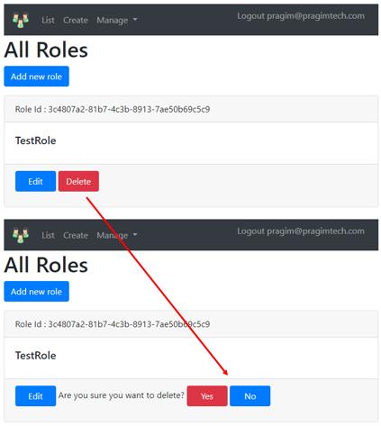 asp.net core identity delete role