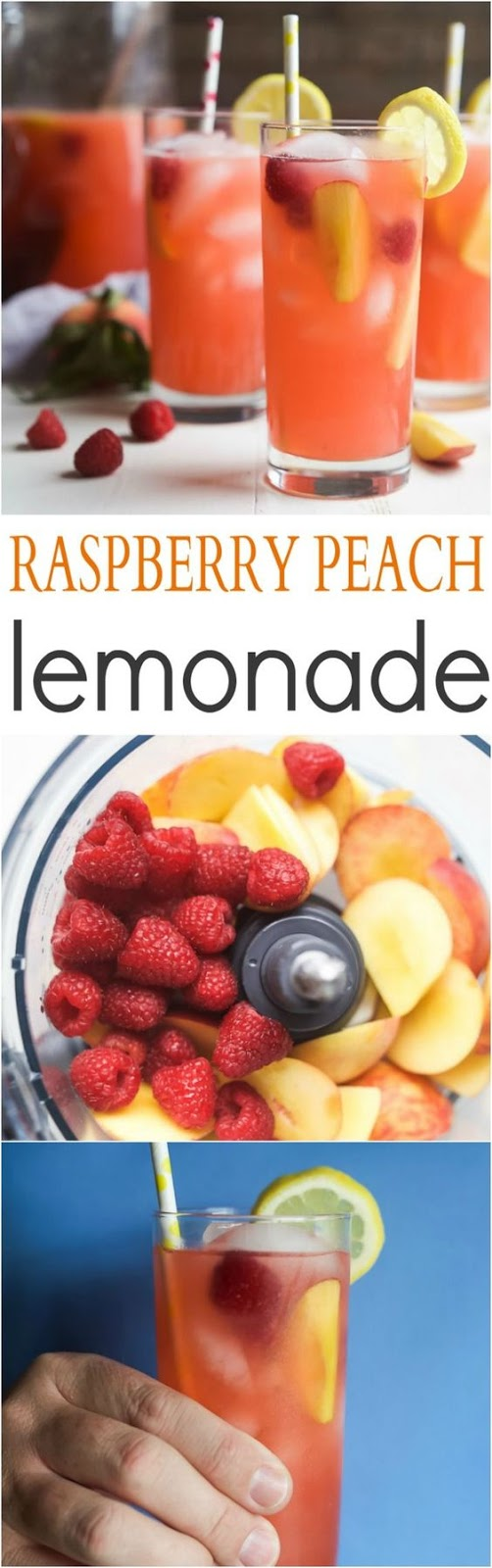 HOMEMADE RASPBERRY PEACH LEMONADE RECIPE