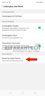 Factory Reset OPPO A3s