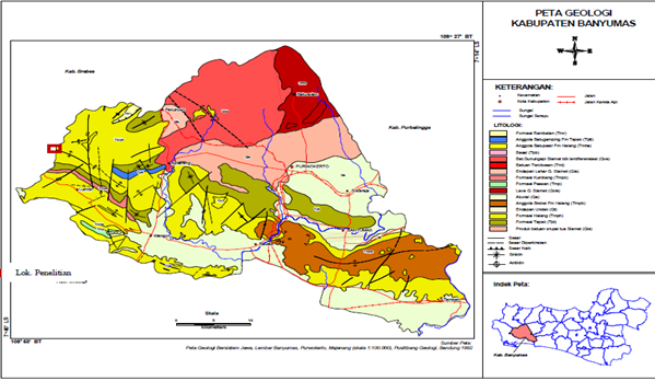 Peta Kabupaten Banyumas Versi Cetak | Gambar Peta ...