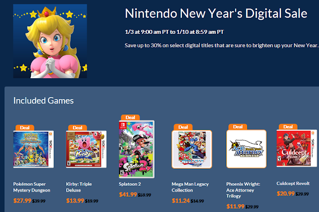 Nintendo New Year's Digital Sale 2019 recommended included games