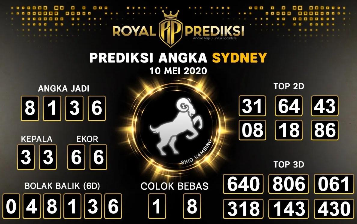 Prediksi Togel Sidney Minggu 10 Mei 2020 - Royal Prediksi Sydney