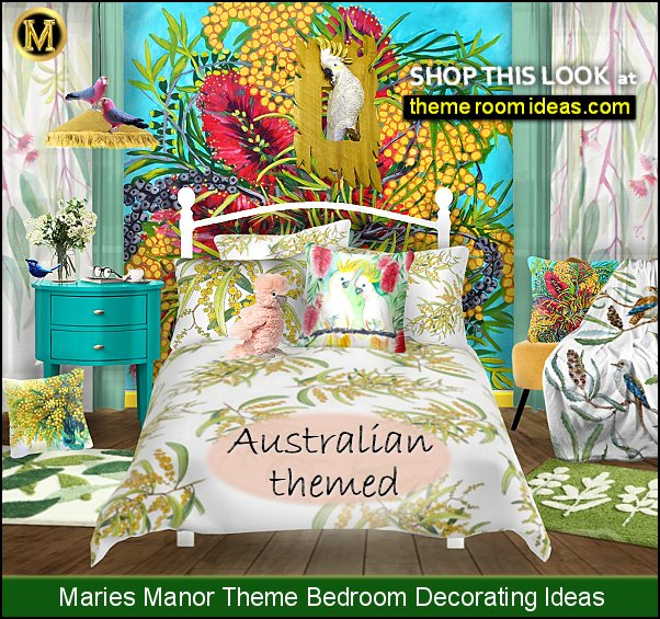 australian native flowers bedroom ideas australian themed room decor Australian birds decor