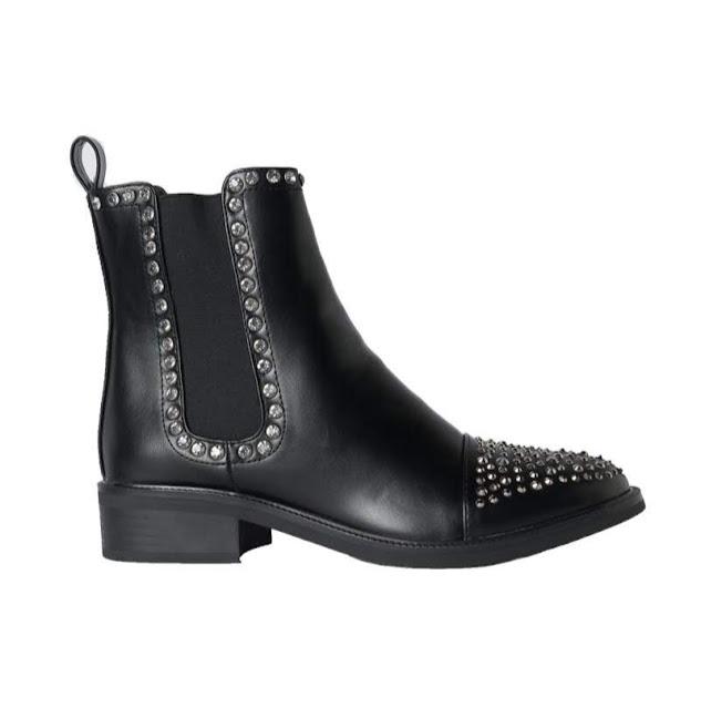 Azalea Wang Studded Flat Chelsea Boots