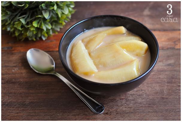 receita banana leite coco