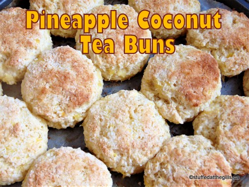 Pineapple Coconut Tea Buns hot from the oven.