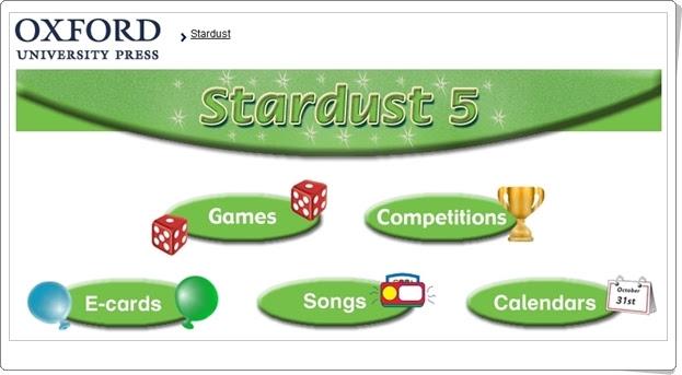 """""""Stardust"""". Inglés de 5º Nivel de Educación Primaria. Editorial Oxford."""