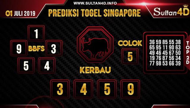 PREDIKSI TOGEL SINGAPORE SULTAN4D 01 JULI 2019