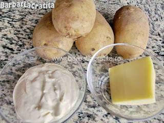 Cartofi copti cu smantana - toate ingrediente necesare retetei