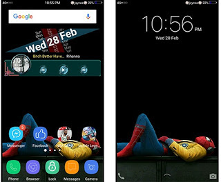 Tema Spiderman Homecoming itz Untuk Android Vivo