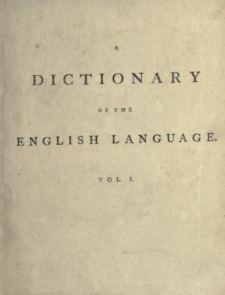 A dictionary of the English language by Johnson Samuel in PDF