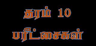 தரம் 10 மாணவர்களுக்கான பரீட்சைகள்