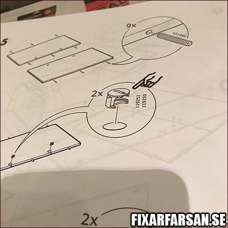 plastdelar i IKEA möbler