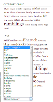 categories, tags on blogs