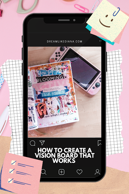 how to create a vision board that works pinterest pin