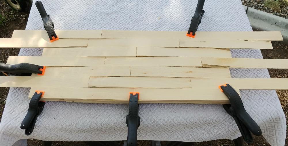 clamp while the glue dries