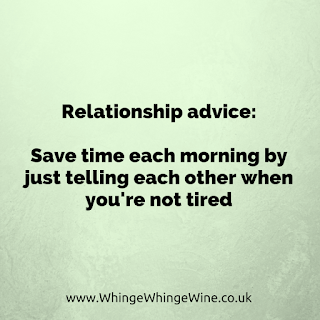 Relationship advice: Save time by just telling each other when you're not tired